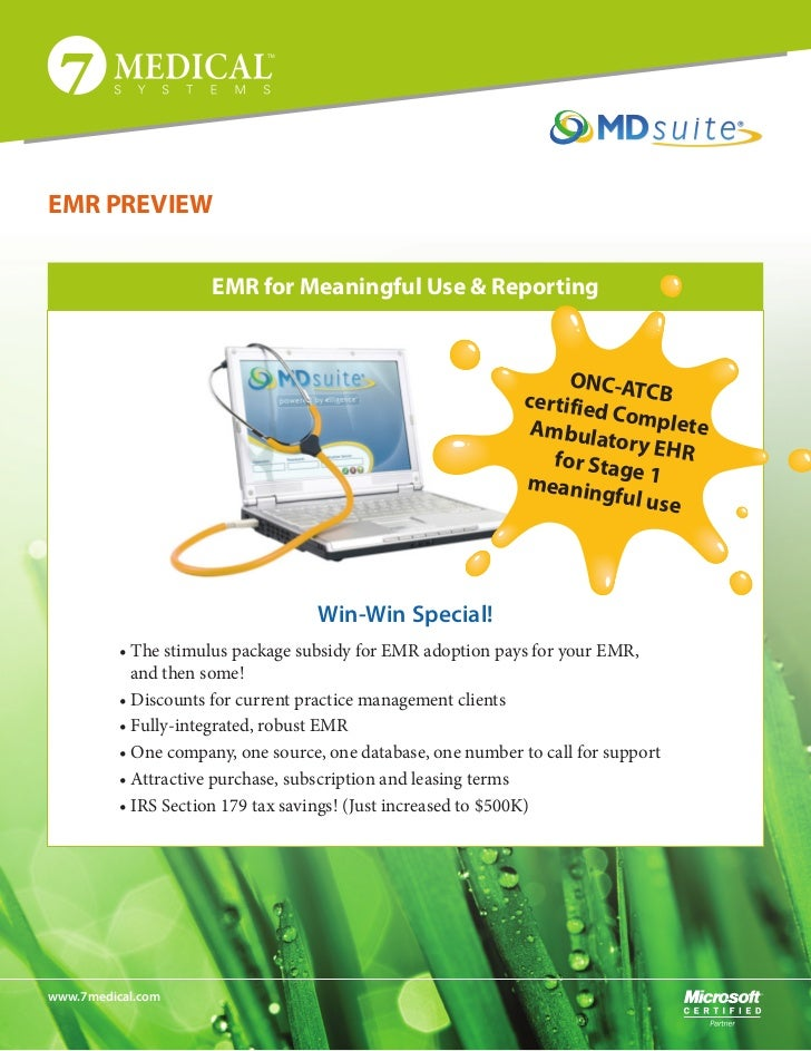 EMR PREVIEW                      EMR for Meaningful Use & Reporting                                                       ...