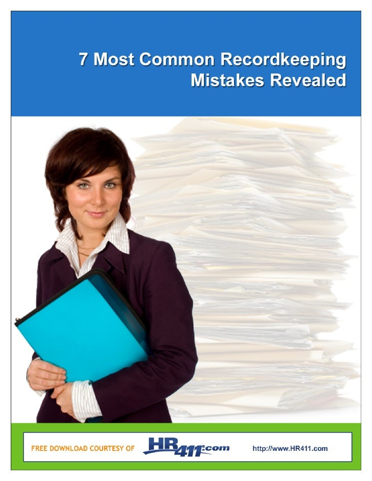 7 Most Common Recordkeeping                                               Mistakes Revealed      Organizing Your Records  ...