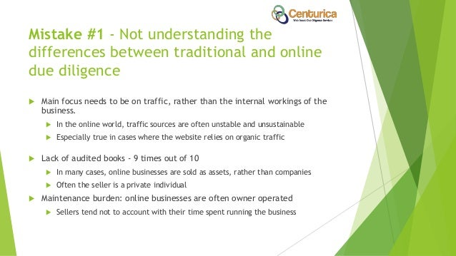 7 Most Common Website Due Diligence Mistakes Slide 3