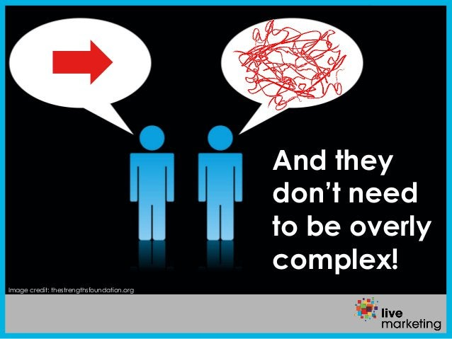 Image credit: thestrengthsfoundation.org And they don't need to be overly complex!
