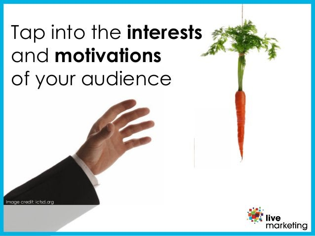 Image credit: ictsd.org Tap into the interests and motivations of your audience