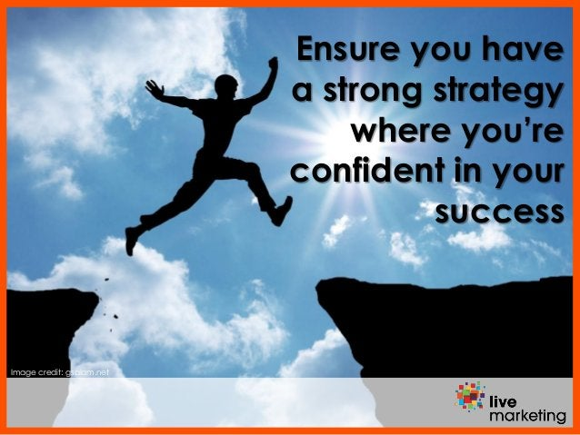Image credit: gsalam.net Ensure you have a strong strategy where you're confident in your success