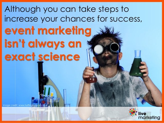 Image credit: www.huffingtonpost.co.uk Although you can take steps to increase your chances for success, event marketing i...