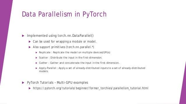 Using Multi GPU in PyTorch