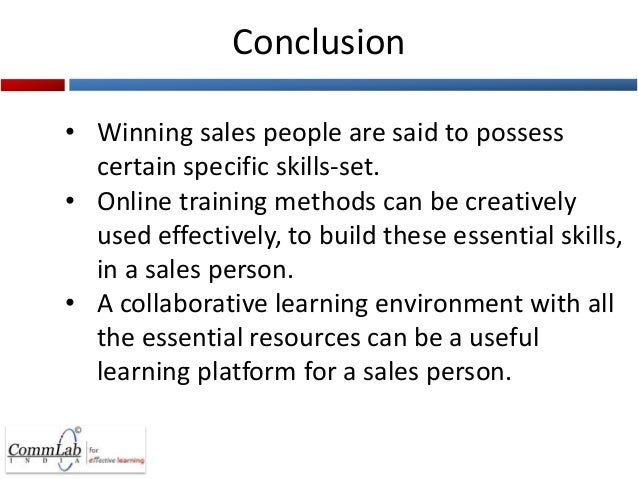 training sales person 01012003 training your sales team - educating your sales team on your product, your competition and the most effective sales techniques are essential to.
