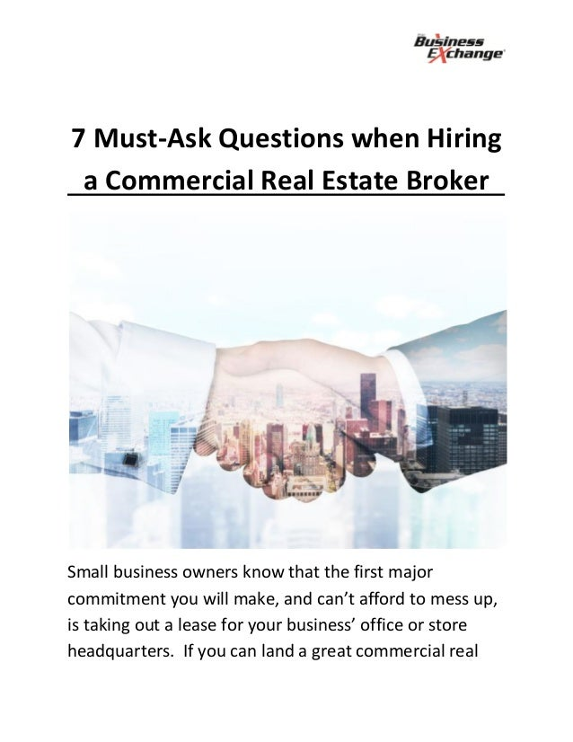 7 Must Have Kitchen Tools Every Home Needs: 7 Must Ask Questions When Hiring A Commercial Real Estate