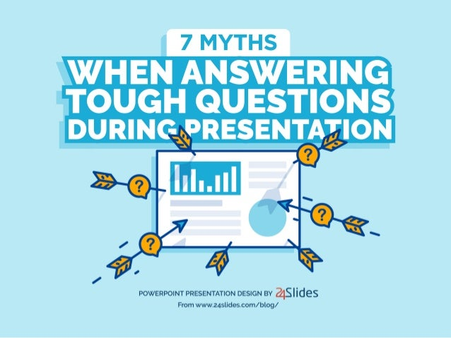 7 MYTHS  WHEN ANSWERING  TOUGH QUESTIONS DURING PRESENTATION                  POWERPOINT PRESENTATION DESIGN BY fis Iides F...