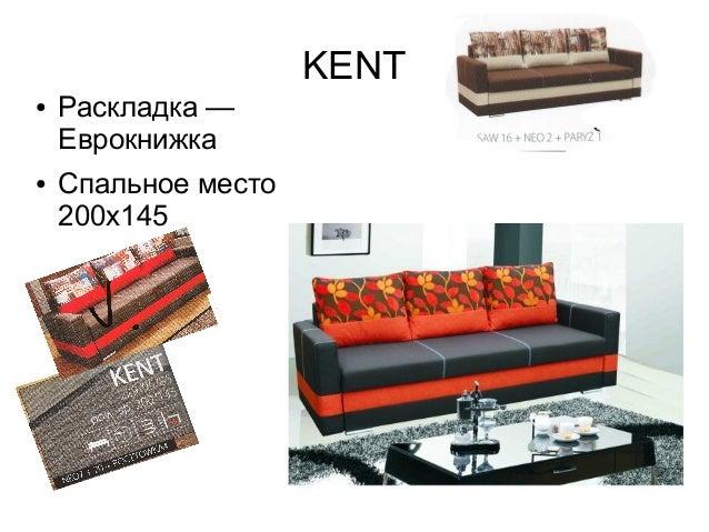 KENT ● Раскладка — Еврокнижка ● Спальное место 200х145