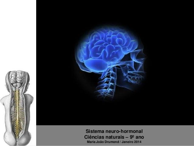 Sistema neuro-hormonal Ciências naturais – 9º ano Maria João Drumond / Janeiro 2014