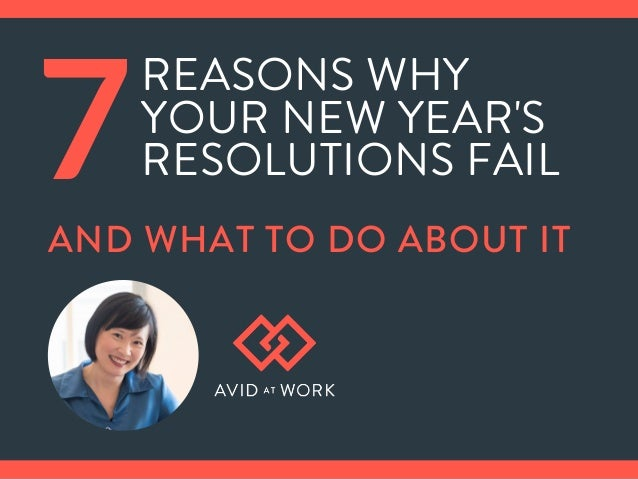 REASONS WHY YOUR NEW YEAR'S RESOLUTIONS FAIL7AND WHAT TO DO ABOUT IT
