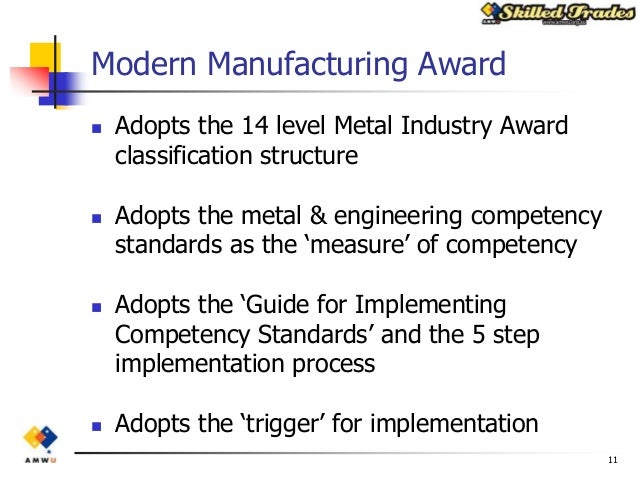 national metal and engineering competency standards implementation guide