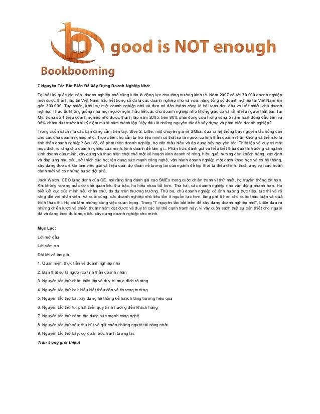 7 Nguyên Tắc Bất Biến Để Xây Dựng Doanh Nghiệp Nhỏ:Tại bất kỳ quốc gia nào, doanh nghiệp nhỏ cũng luôn là động lực cho tăn...