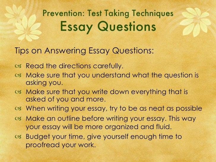 test anxiety essays