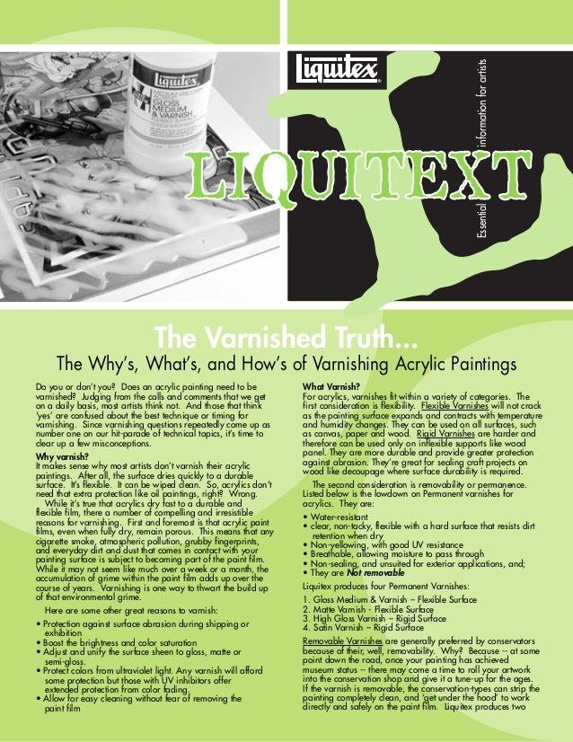 Painting Manual :: Varnishing liquitex