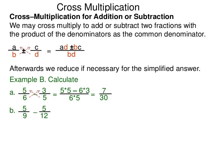 123a-1-f7 on cross multiplication