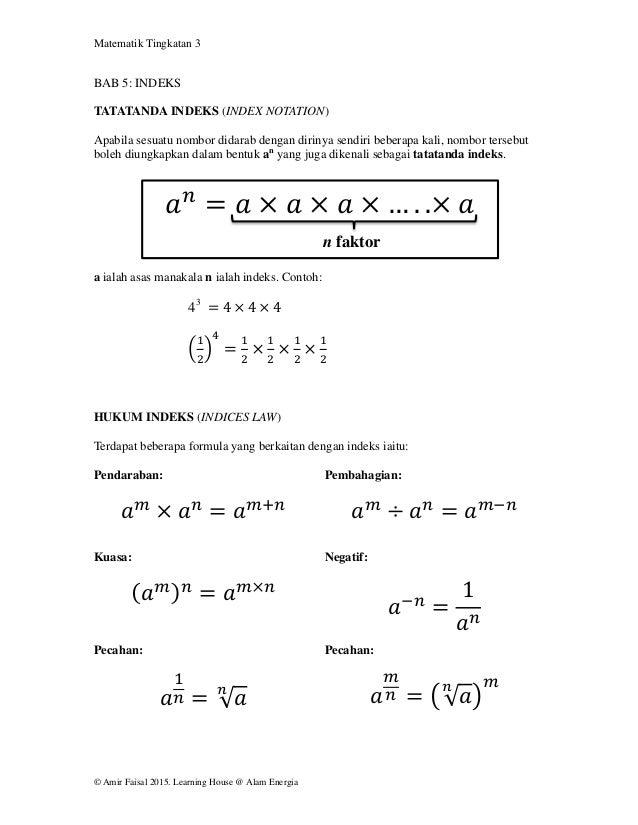 Bab 5 Indeks Form 3
