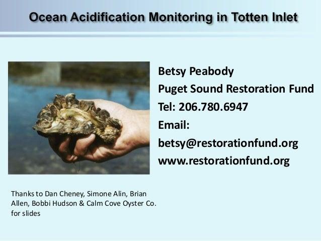 Betsy Peabody Puget Sound Restoration Fund Tel: 206.780.6947 Email: betsy@restorationfund.org www.restorationfund.org Than...