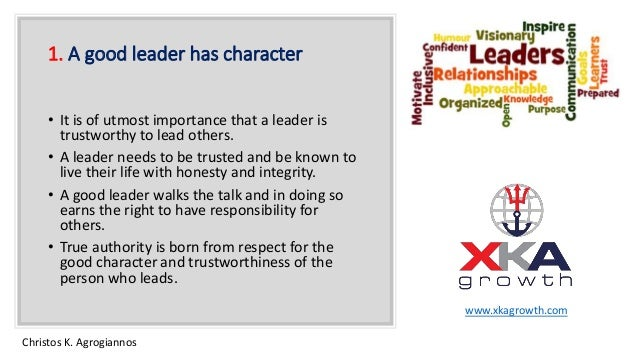 what is good character and why is it important