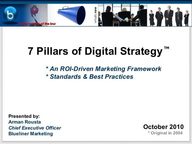 7 Pillars of Digital Strategy                                                       TM                * An ROI-Driven Mark...