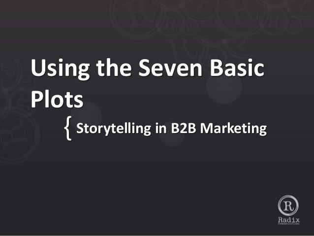Using the Seven BasicPlots  { Storytelling in B2B Marketing