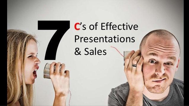 C's of Effective Presentations & Sales
