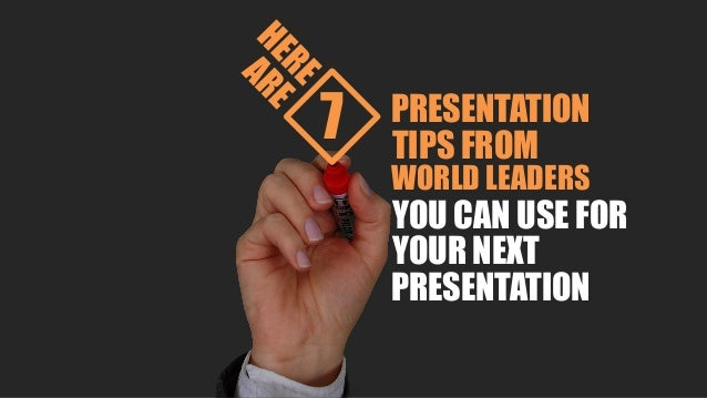 7 Presentation Tips You Can Learn from World Leaders Slide 3
