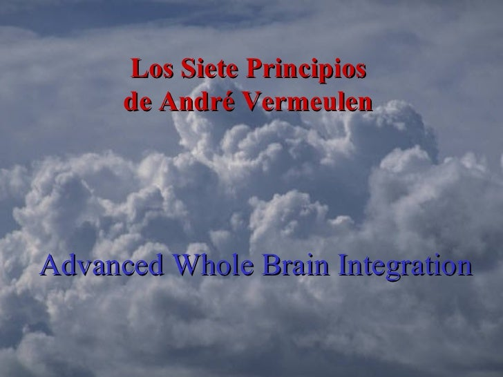 Advanced Whole Brain Integration Los Siete Principios  de André Vermeulen
