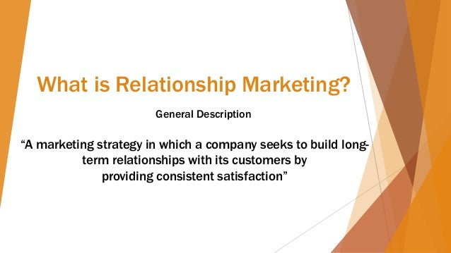 direct and relationship marketing