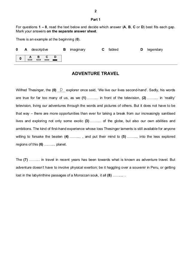 7 proficiency 2013 reading & use of english