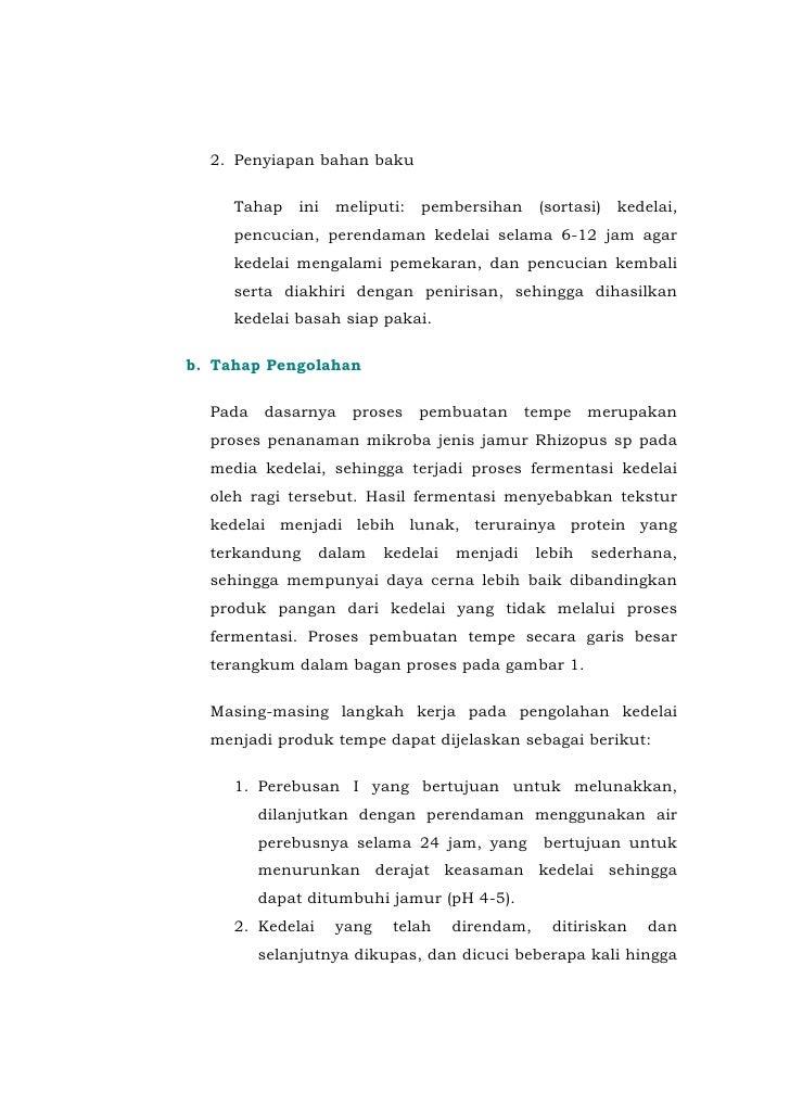 7 Proses Pembuatan Tempe