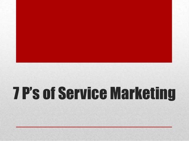 7 P's of Service Marketing