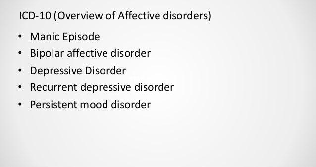 Psychopathology Of Mood Disorders