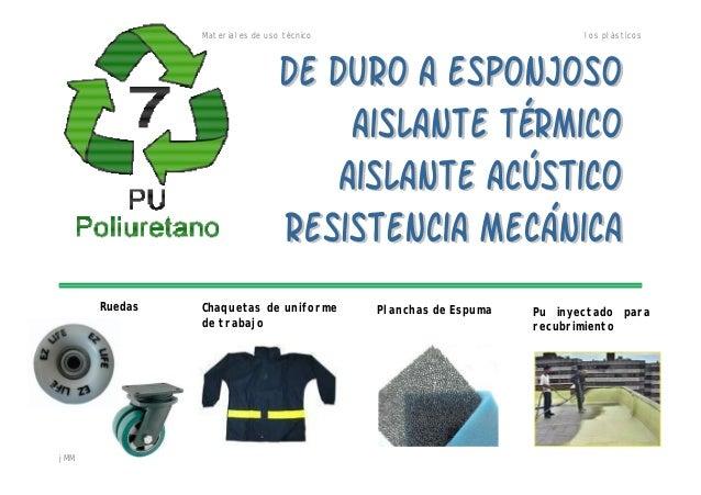 Materiales de uso técnico los plásticos jMM Chaquetas de uniforme de trabajo Ruedas Planchas de Espuma Pu inyectado para r...