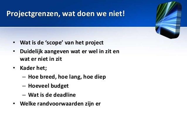 Sessie 7: Plan van Aanpak, projectmanagement, PRM