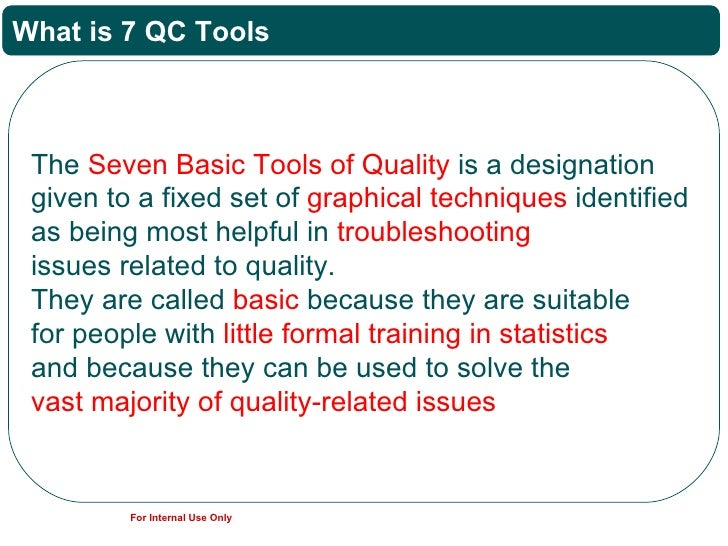 quality control tools and techniques pdf