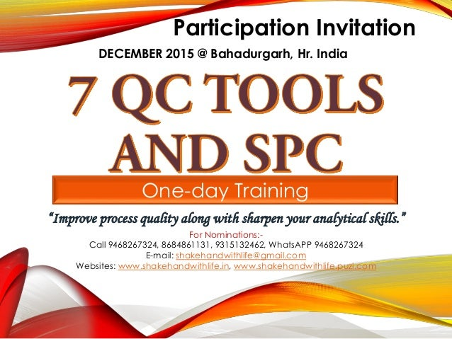 """One-day Training """"Improve process quality along with sharpen your analytical skills."""" Participation Invitation DECEMBER 20..."""