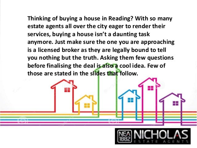 7 Questions To Ask Estate Agents In Reading Before Buying