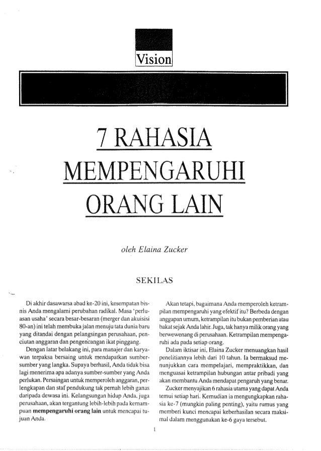 7 RAHASIA MEMPENGARUHI ORANG LAIN