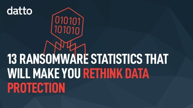 13 RANSOMWARE STATISTICS THAT WILL MAKEYOU RETHINK DATA PROTECTION 010101 101010