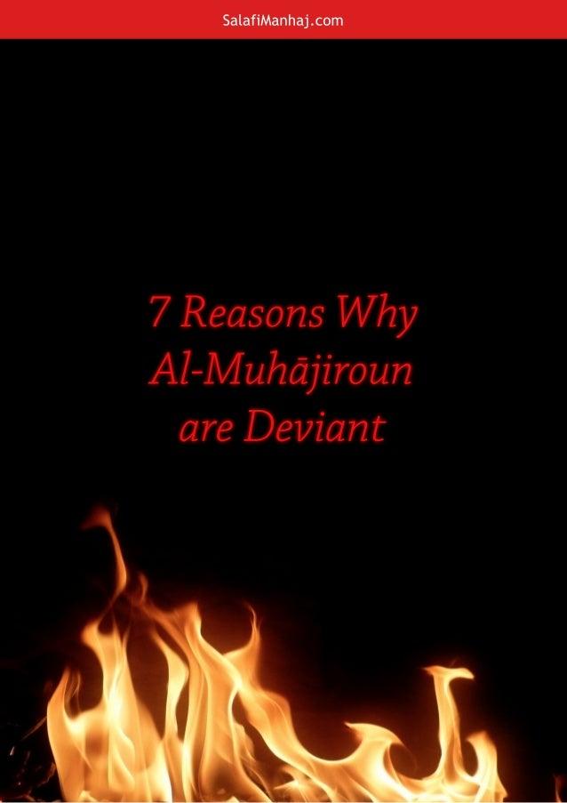 SalafiManhaj.com 7ReasonsWhy Al-Muhājiroun areDeviant