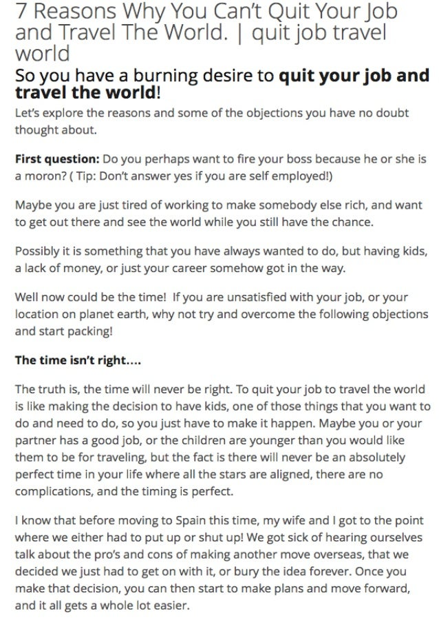 7 Reasons Why You Cant Quit Your Job To Travel The World