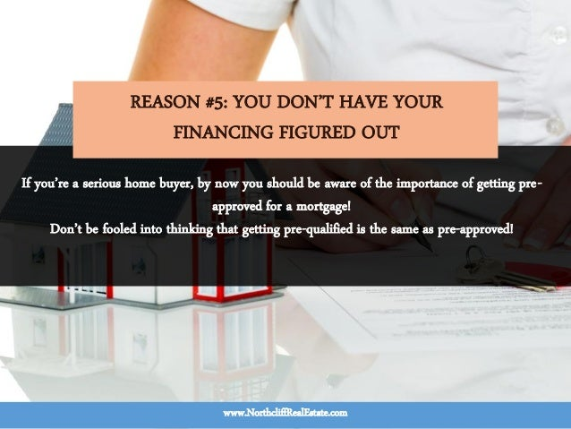 If you're a serious home buyer, by now you should be aware of the importance of getting pre- approved for a mortgage! Don'...
