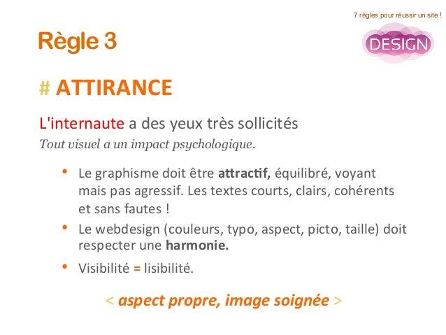 #  ATTIRANCE      L'internaute  a  des  yeux  très  sollicités     Tout visuel a un impact psychologiq...