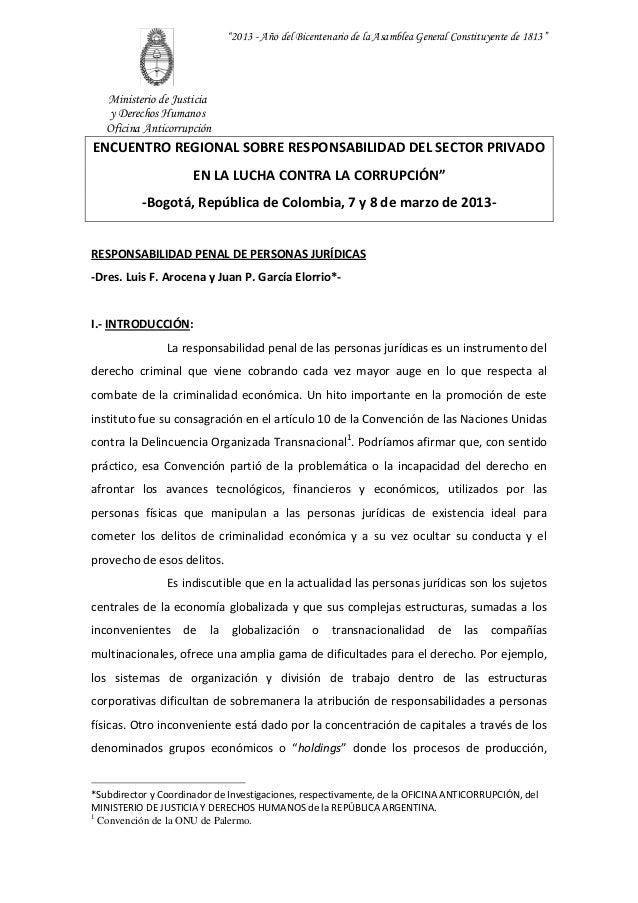"""""""2013 - Año del Bicentenario de la Asamblea General Constituyente de 1813""""   Ministerio de Justicia   y Derechos Humanos  ..."""