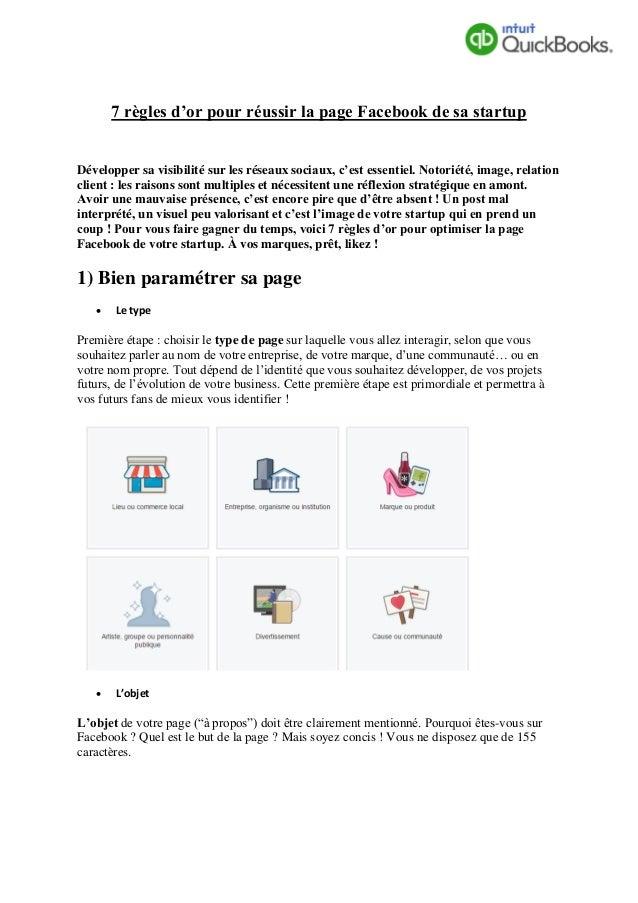 7 règles d'or pour réussir la page Facebook de sa startup Développer sa visibilité sur les réseaux sociaux, c'est essentie...