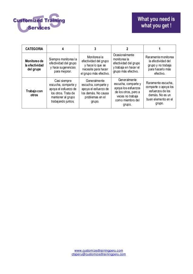 Rubricas para trabajo grupal Slide 2