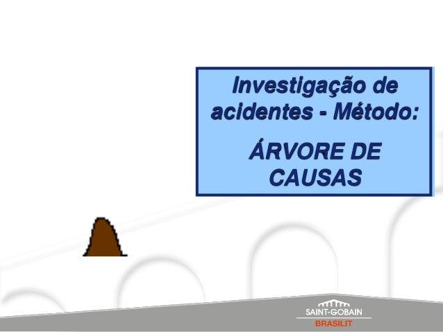 Investigação deacidentes - Método:   ÁRVORE DE    CAUSAS