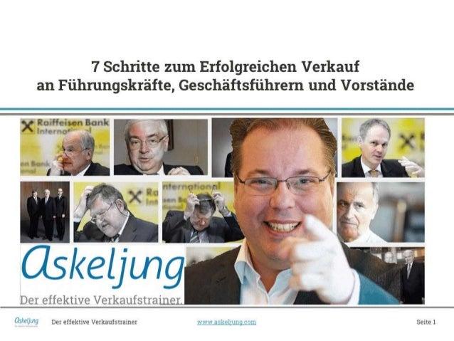 Der effektive Verkaufstrainer  www.askeljung.com  Seite 1