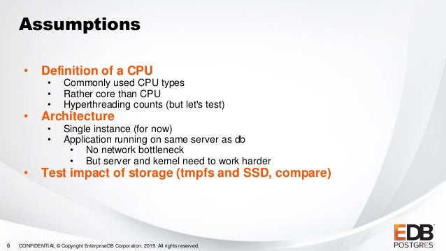 60000 TPS: How many CPUs?, Enterprise Postgres Day