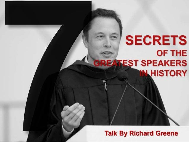 Talk By Richard Greene